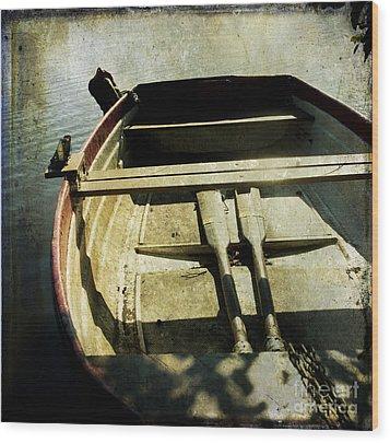 Rowboat Wood Print by Bernard Jaubert