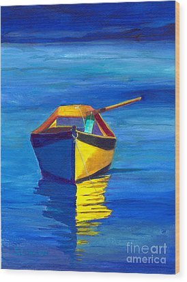 Rowboat Wood Print by Sandy Linden
