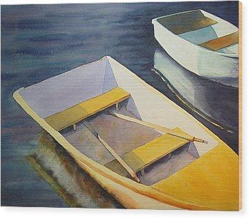 Rowboats Wood Print by Sarah Buell  Dowling