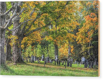 Rowell Cemetery Wood Print