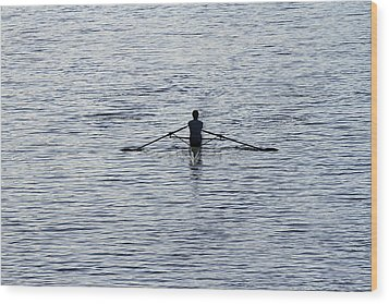 Rowing Wood Print by Juergen Roth
