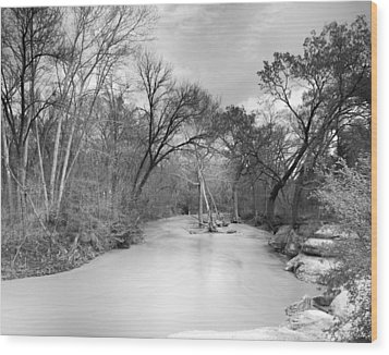 Wood Print featuring the photograph Rowlett Creek by Darryl Dalton