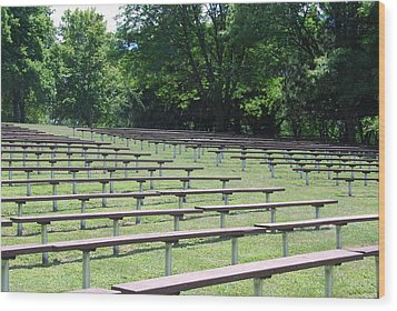 Wood Print featuring the photograph Rows And Rows Of Seats by Ramona Whiteaker