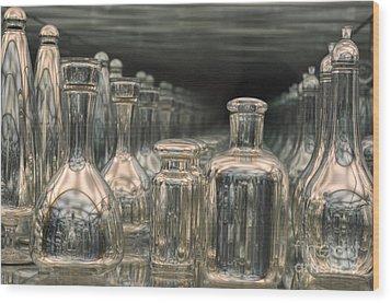 Rows Of Bottles Wood Print by Randi Grace Nilsberg