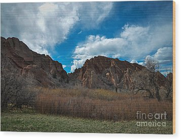 Roxborough Cragginess Wood Print