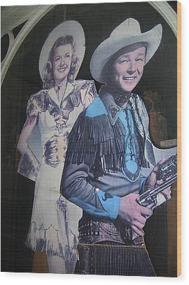 Roy Rogers And Dale Evans #2 Cut-outs Tombstone Arizona 2004 Wood Print by David Lee Guss