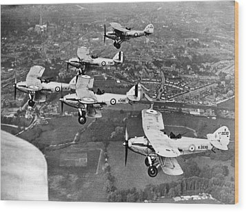 Royal Air Force Formation Wood Print by Underwood Archives