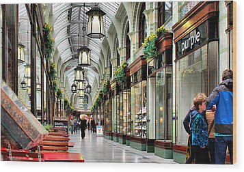Royal Arcade Wood Print by Pedro Fernandez
