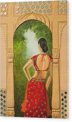 Royal Bride Wood Print by Archana Doddi