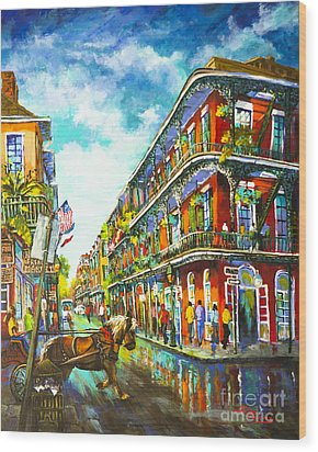Royal Carriage - New Orleans French Quarter Wood Print by Dianne Parks