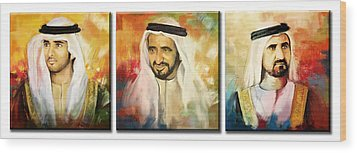 Royal Collage Wood Print by Corporate Art Task Force