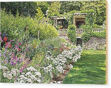 Royal Garden Wood Print by David Lloyd Glover