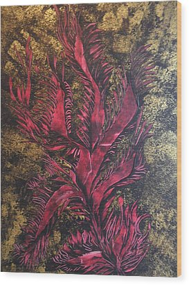 Wood Print featuring the painting Royal Gold by Nico Bielow
