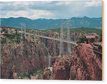 Royal Gorge Bridge Wood Print