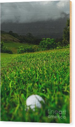 Wood Print featuring the photograph Royal Hawaiian Golf by Angela DeFrias