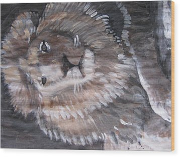 Wood Print featuring the painting Royal Lion by Vikram Singh