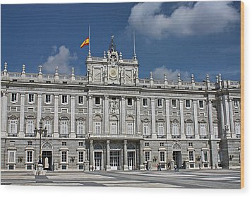 Wood Print featuring the photograph Royal Palace Of Madrid by Farol Tomson