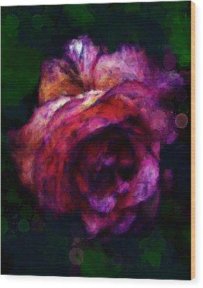 Royal Rose Painted Wood Print
