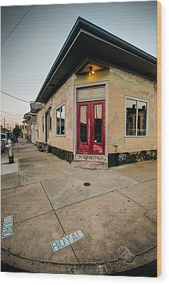 Wood Print featuring the photograph Royal Street Landerette In The Marigny Of New Orleans by Ray Devlin