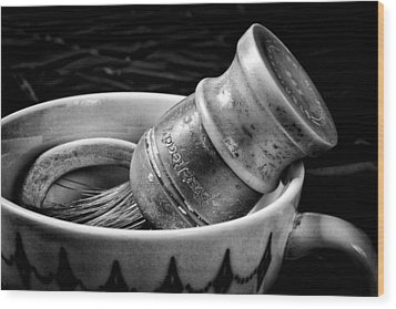 Roy's Shaving Mug I Wood Print by Jeff Burton