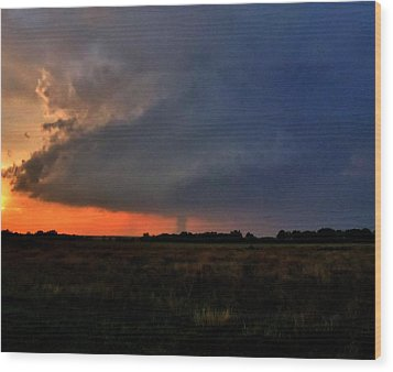 Wood Print featuring the photograph Rozel Tornado by Ed Sweeney