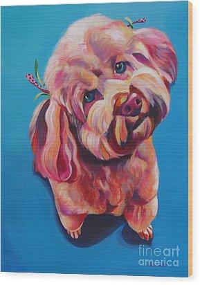 Rozzie In Pink Wood Print