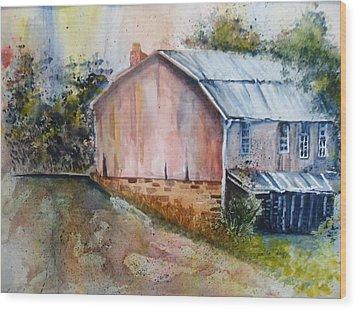Rte 154 Barn Wood Print