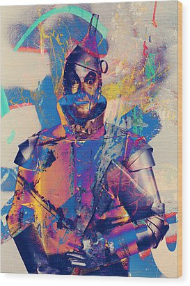 Rubber Tin Man  Wood Print by Jerry Cordeiro
