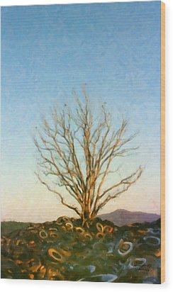 Rubber Tree Wood Print