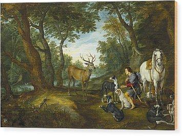Rubens, Peter Paul 1577-1640 Breugel Wood Print by Everett