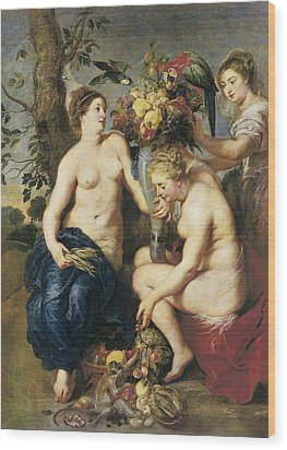 Rubens, Peter Paul 1577-1640. Ceres Wood Print by Everett