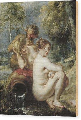 Rubens, Peter Paul 1577-1640. Nymphs Wood Print by Everett
