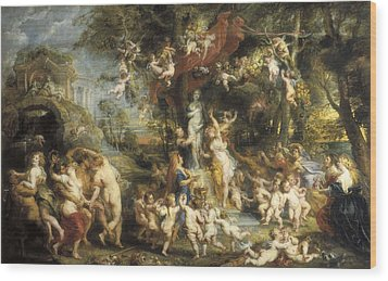 Rubens, Peter Paul 1577-1640. The Feast Wood Print by Everett