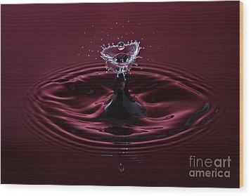 Rubies And Diamonds Wood Print by Susan Candelario