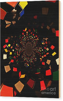 Rubik's Explosion Wood Print by Scott Allison