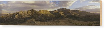 Ruby Mountain Panorama Wood Print