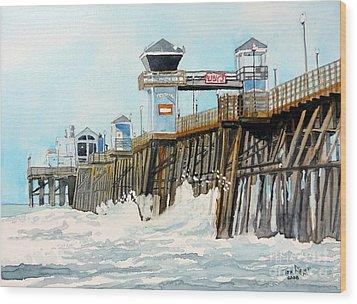 Ruby's Oceanside Pier Wood Print by Tom Riggs