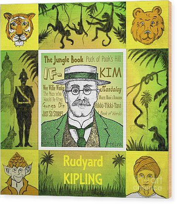 Rudyard Kipling Wood Print by Paul Helm