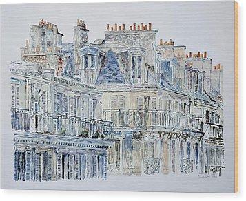 Rue Du Rivoli Paris Wood Print by Anthony Butera