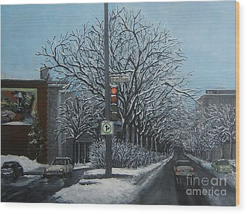 Rue St Jacques Wood Print by Reb Frost