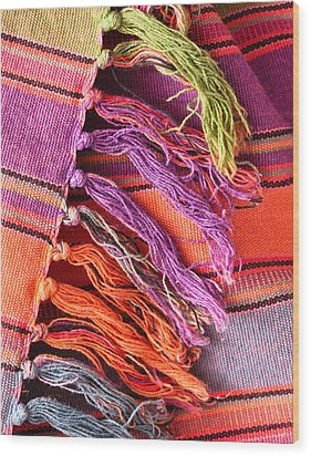 Rug Tassels Wood Print by Tom Gowanlock