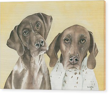 Ruger And Daisey   Wood Print by Kimberly Lavelle