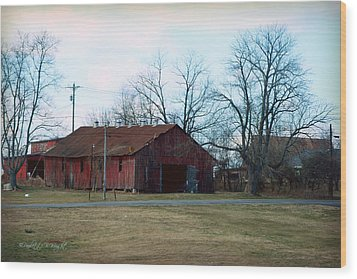 Rugged Shed II Wood Print by Paulette B Wright