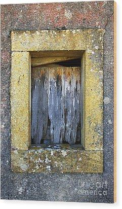 Ruined Window Wood Print by Carlos Caetano