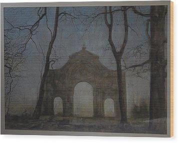 Ruins In A Place Called Heaven Gate Wood Print by Paez  Antonio