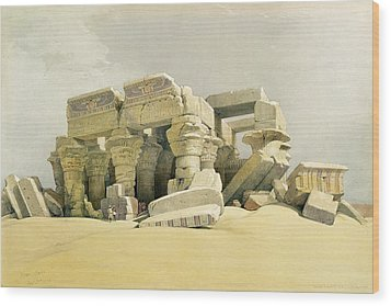 Ruins Of The Temple Of Kom Ombo Wood Print by David Roberts