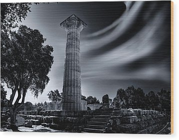 Wood Print featuring the photograph Ruins Of Zeus's Temple At Olympia by Micah Goff