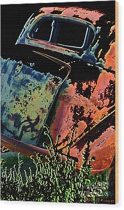 Rumble Seat Wood Print by Barbara D Richards