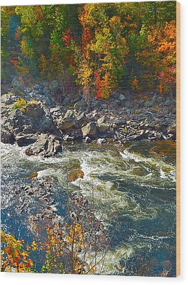 Rumford Falls 15 Wood Print by George Ramos