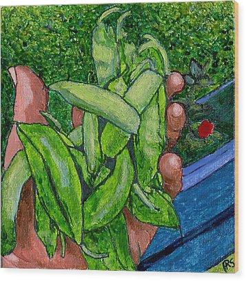 Rummenie's Snap Peas Wood Print